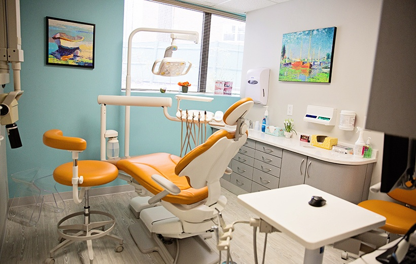 orange exam room