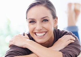 Happy woman with flawless smile